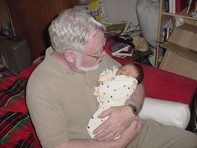 w/ Grandpa Cross